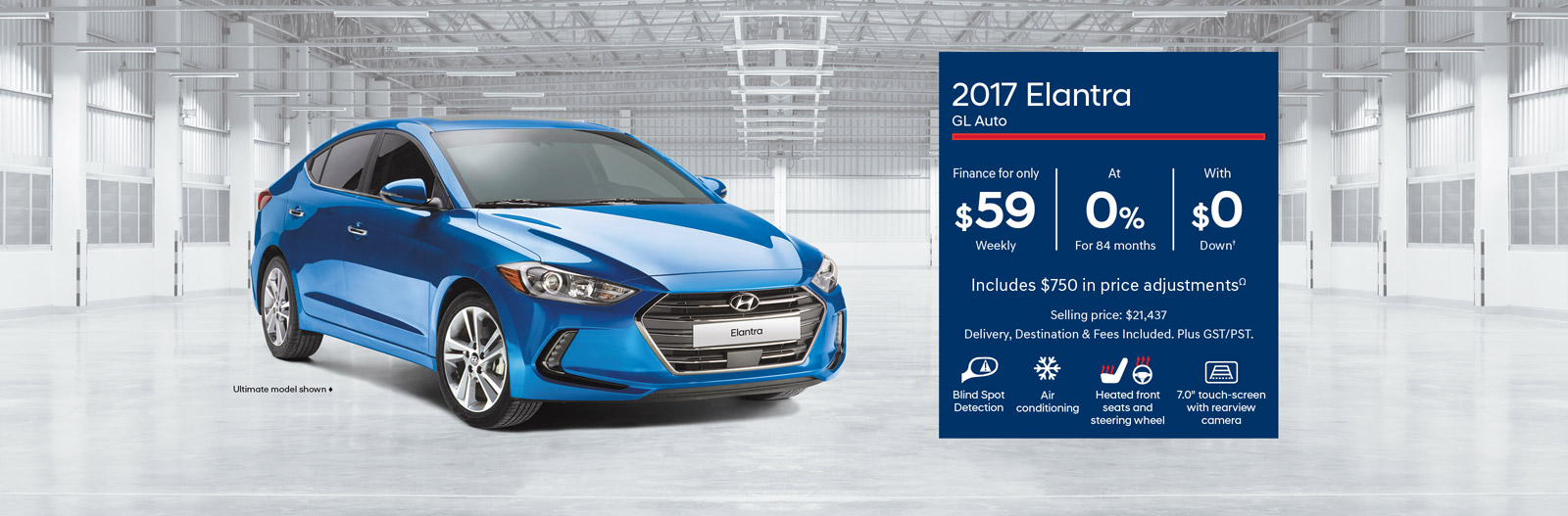 2017 Elantra - Finance for only $59 Weekly