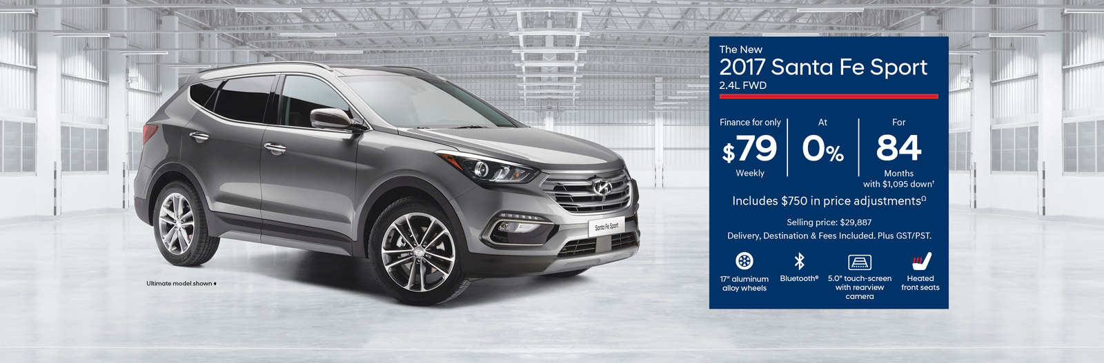 The new 2017 Santa Fe Sport - Finance from $79 Weekly