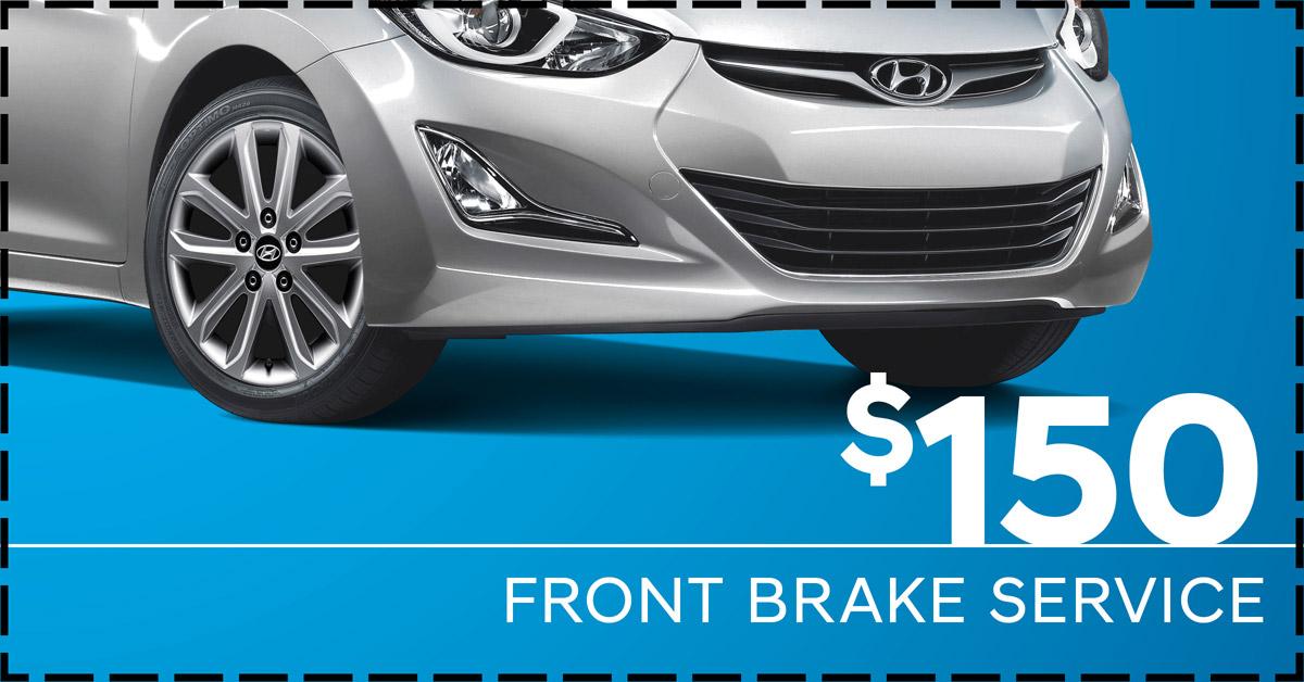 Front Brake Service starting at $150.
