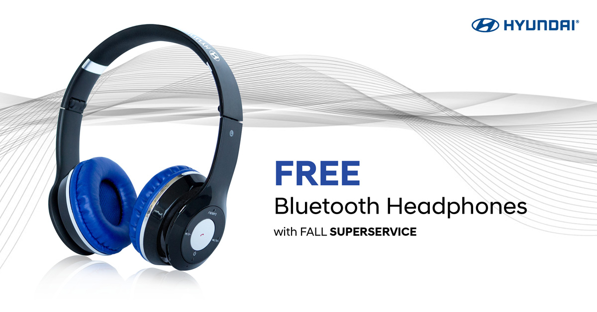 FREE Bluetooth Headphones with Fall SUPERSERVICE