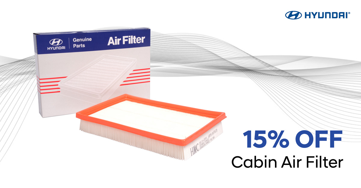 15% OFF Cabin Air Filter