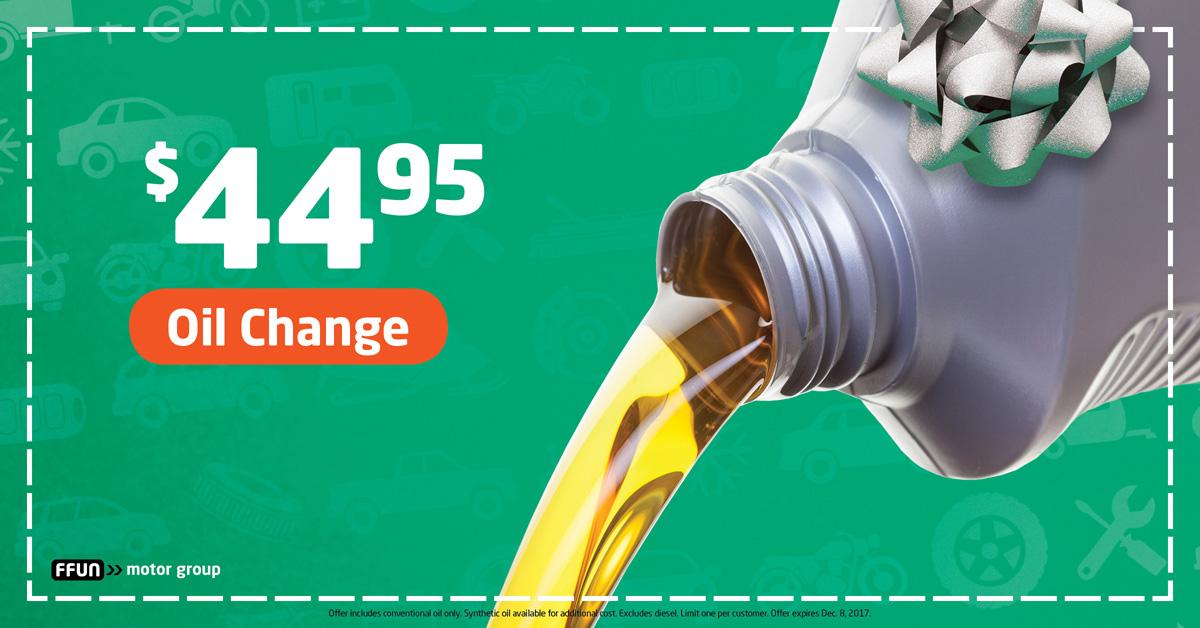 $44.95 Oil Change