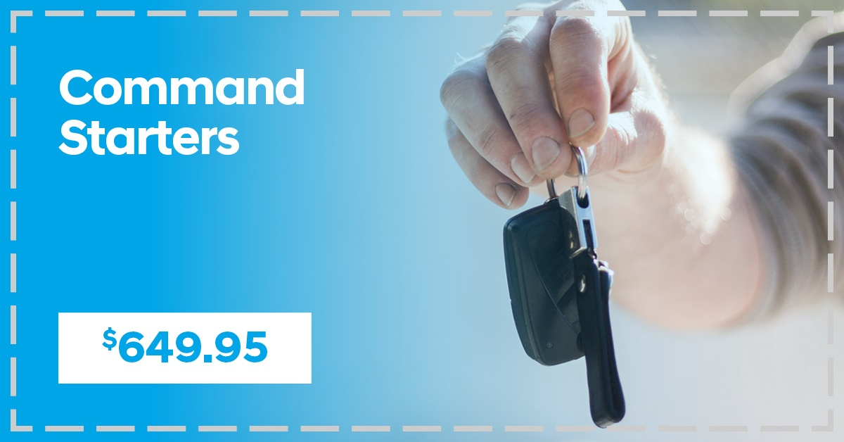 Command Starters, from $649.95!